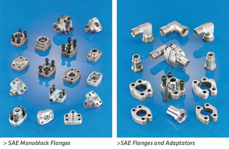 flanges-SAE-monoblock-adaptators